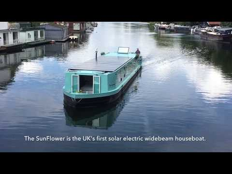 UK's first solar electric widebeam houseboat