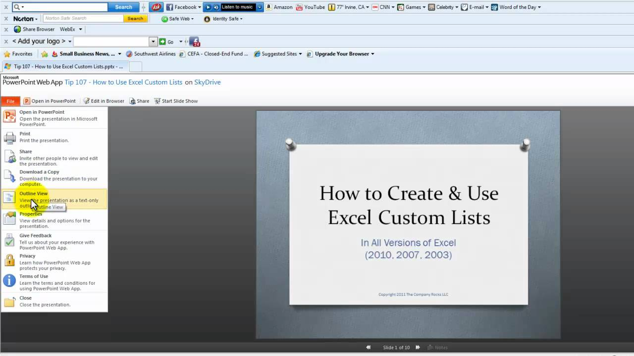 how to embed a powerpoint presentation of your blog or website youtube