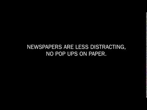 Newsaper print version vs online