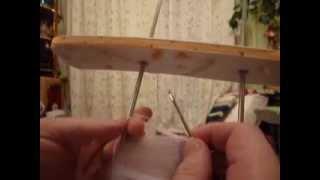Вязание простой ленты на вилке