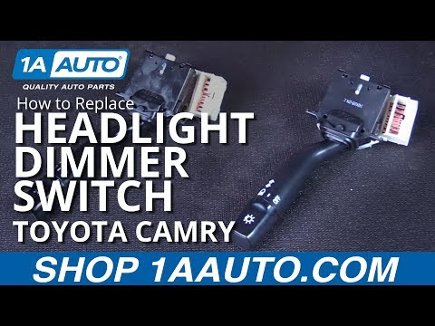 how to replace headlight dimmer switch (without fog lights) 97 01