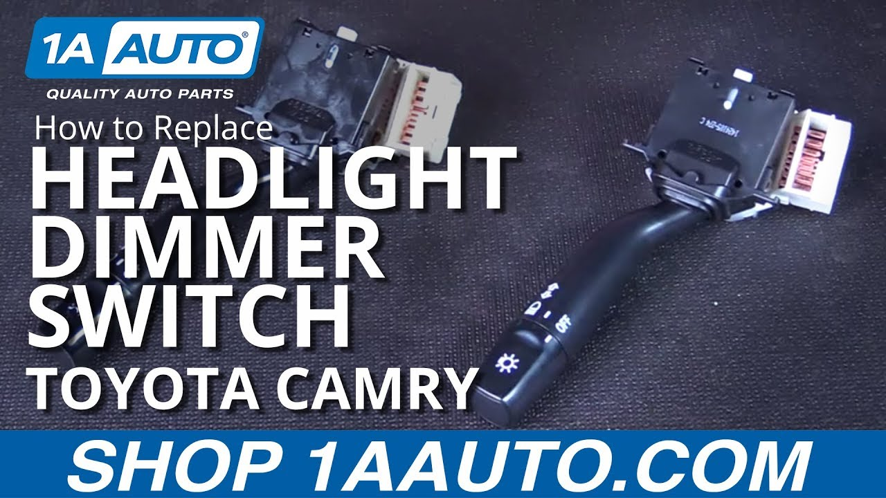 how to replace headlight dimmer switch without fog lights 97 01 toyota camry [ 1280 x 720 Pixel ]