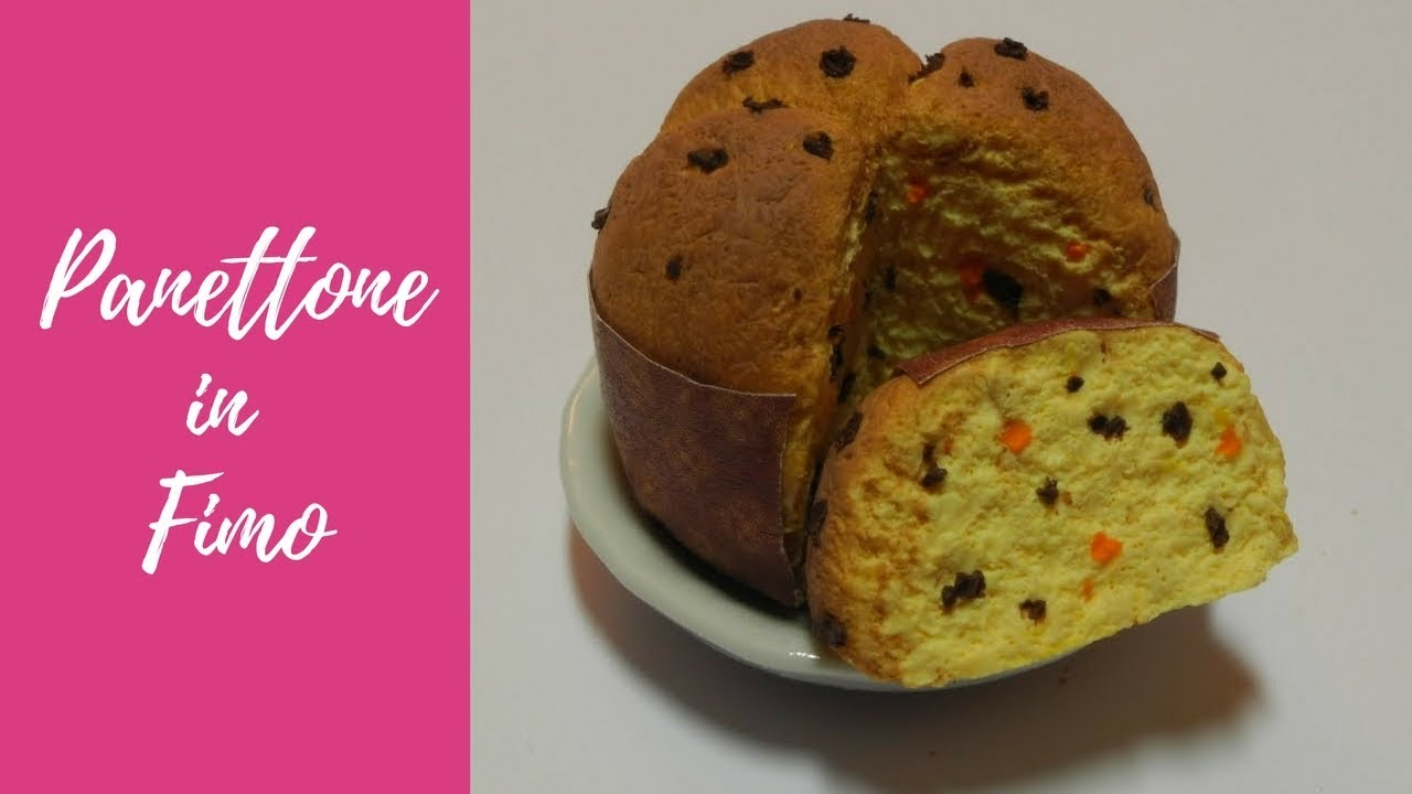 Molto Tutorial: Panettone in fimo (panettone in polymer clay) (christmas  VJ41