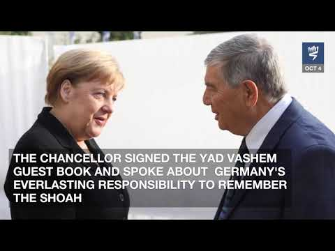 German Chancellor Angela Merkel Visits Yad Vashem