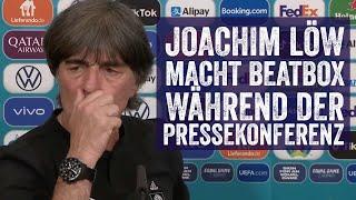 Joachim Löw macht BEATBOX während der DFB-Pressekonferenz