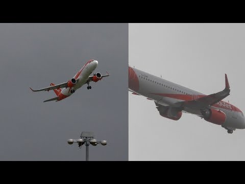 Dramatic Crosswind Landing in a storm turns into aborted landing