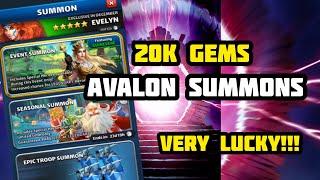 20k Gems on Avalon - Very Lucky!!!