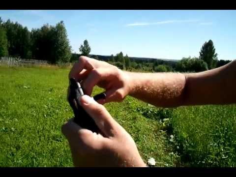 Сигнальный Револьвер Наган С Блеф - YouTube
