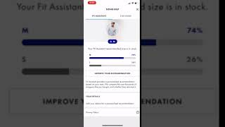 ASOS app Size guide Animation