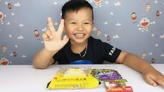 Ken Ăn Kẹo Dẻo Siêu Dài Kẹo Pizza Trolli Gummi Bánh Bông Lan Chuối