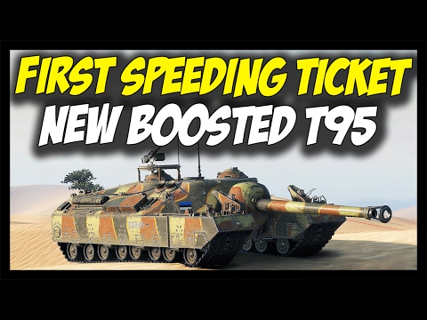 ► T95's First Speeding Ticket - Mobility Boost! - World of Tanks New T95 Gameplay