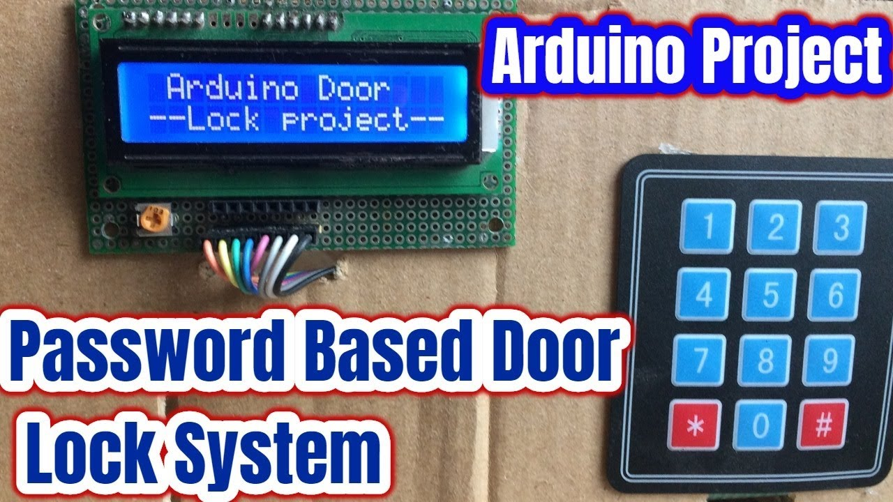 Password Based Door Lock System Using Arduino And Keypad Youtube King Gate Wiring Diagram