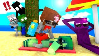 Monster School : Swimming Challenge FULL SERIES - Minecraft Animation