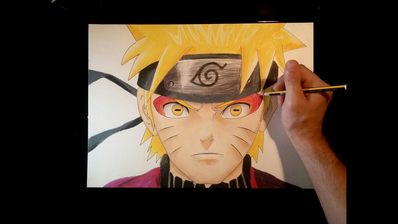 Cmo dibujar a Naruto modo SabioErmitao con lpices de colores