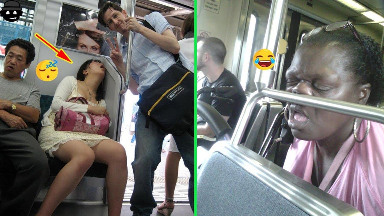 Weirdest People Caught Sleeping In Public - YouTube