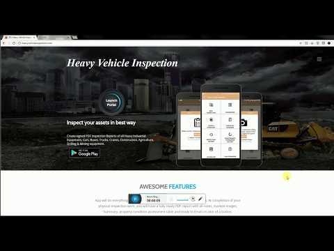 Heavy Equipment Inspection App   -  HVI Web Portal Training