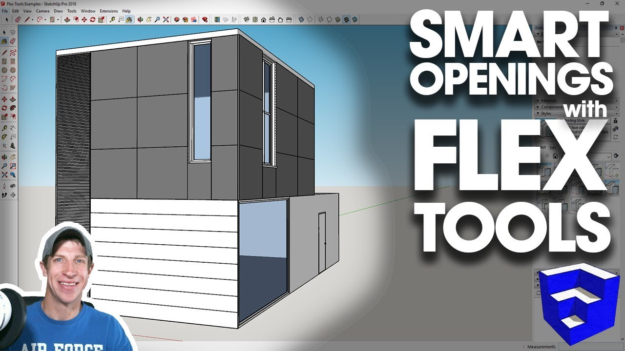 SMART OPENINGS IN SKETCHUP with Flex Tools