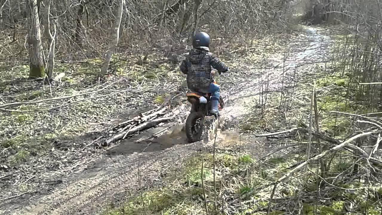 mud dirt bike kid