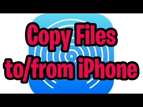 How to transfer files to or from iPhone using AirDrop