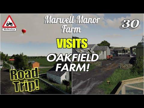 Marwell Manor Farm VISITS Oakfield Farm,  #30, Road Trip! Farming Simulator 19, PS4, Let's Play.
