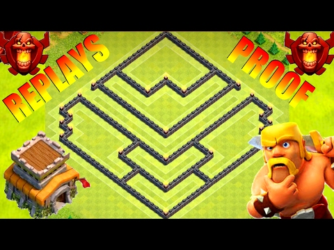 Clash Of Clans | EPIC Th8 Trophy (War) Base With Proof! (3 Replays) - Hybrid Farming Protect Loot