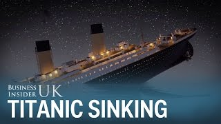 Animation shows the Titanic sinking