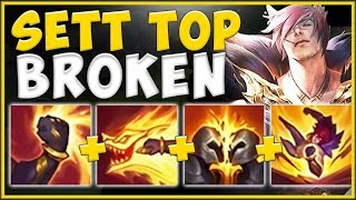 RIOT'S BEST NEW CHAMPION RELEASE?? SETT TOP IS 100% BROKEN! SETT TOP GAMEPLAY! - League of Legends