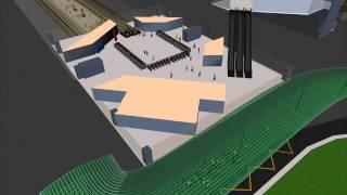 Transport Hub Simulation Model: Pedestrian and Traffic Simulation
