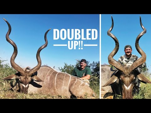 2 MONSTER KUDUS IN 1 DAY! | ACTION PACKED | Hunting South Africa 2018 Part 3