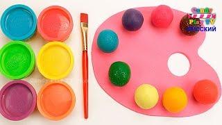 Учим цвета с Play Doh | Учим название геометрических фигур|Лепим Палитру Красок из Плей До для детей thumbnail