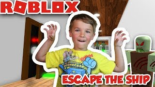 ESCAPE THE SHIP OBBY (FR) ZOMBIES INFESTED OUR SHIP LET'S RUN ! PARKOUR ROBLOX