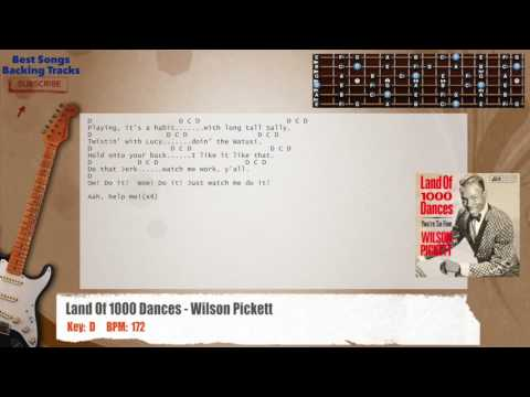 Land Of 1000 Dances - Wilson Pickett Guitar Backing Track with chords and lyrics