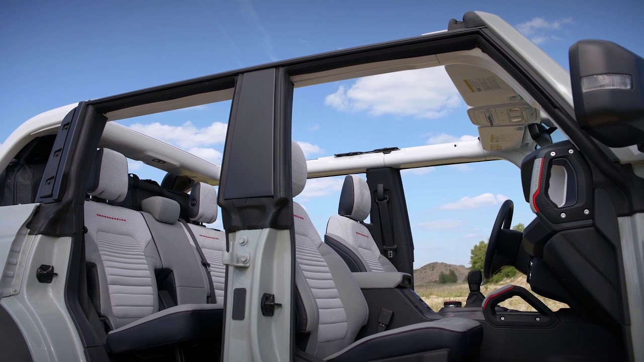 2021 Ford Bronco two door and four door Interior - YouTube