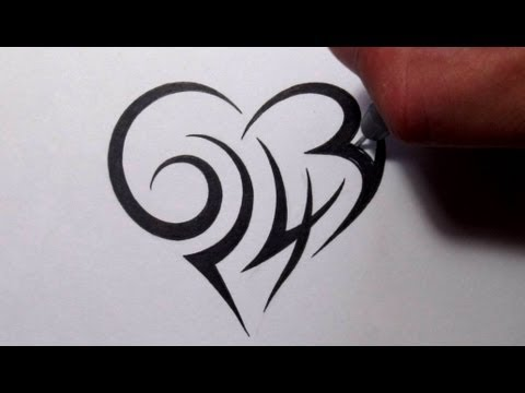 creating-a-tribal-heart-tattoo-design-with-numbers