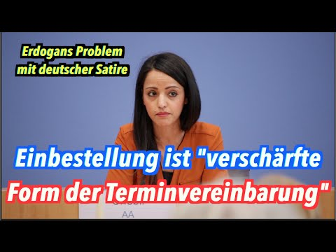 Die Bundesregierung zu Erdogans Problem mit deutscher Satire