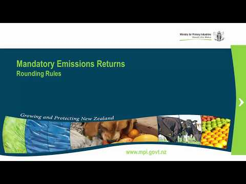 4 - Emissions Trading Scheme (Forestry) - Rounding Rules
