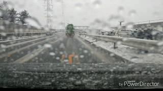 ドラレコ 2018年12月9日新潟バイパス初雪     もうすぐクリスマス