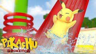Minecraft - PIKACHU O POKEMON X Y #3: Férias no parque aquático!