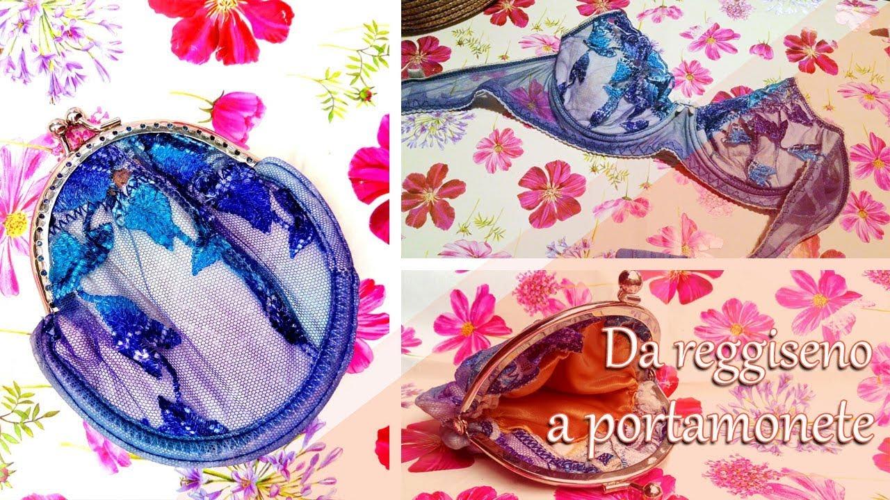 292d2d269299 DIY Come fare un portamonete con un reggiseno😍 - Riciclo creativo ...