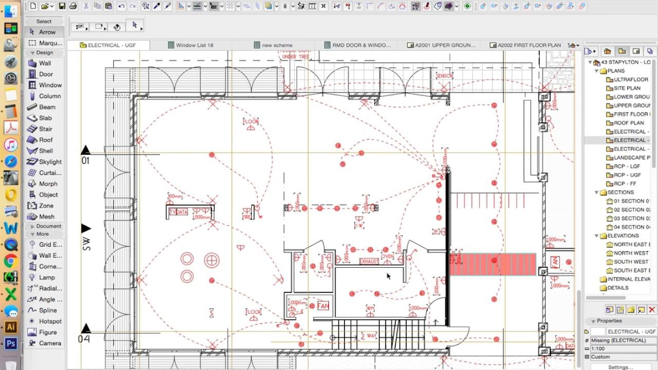 electrical plan in archicad wiring diagram Mechanical Plans archicad intro week 4 part 4 creating a object preview youtube electrical plan