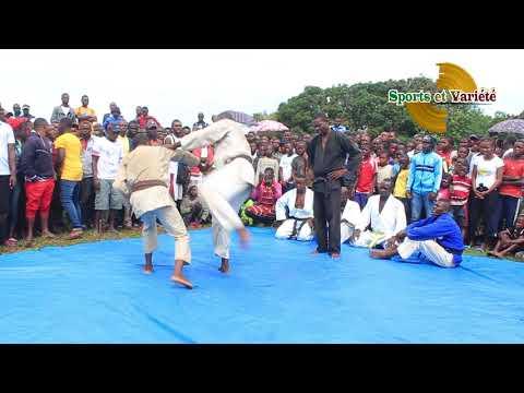JUJITSU CONGO:  CONTRE - ATTAQUE SUR LE TATAMI A NGO EN PLEIN AIR