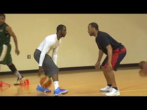 Chris Paul Demonstrates Step Out Move   Five-Star Basketball