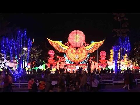 Cross-Strait lantern fair lights up Fuzhou