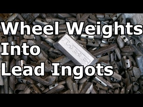 Turn Wheel Weights into Lead Ingots.