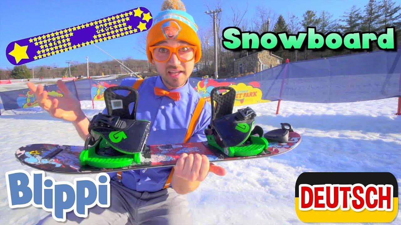 Blippi Deutsch - Lernt etwas über Schneemobile - Die Winter-Episode| Abenteuer und Videos für Kinder