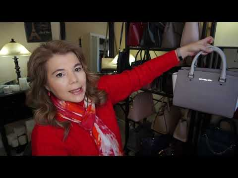 Michael Kors Vlog 12 Purse of the Day Selma & cleaning saffiano leather