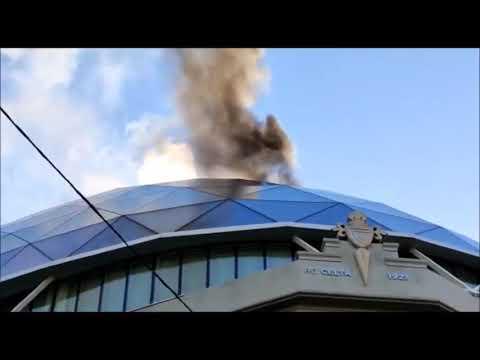 Incendio en la cúpula de la sede del Celta de Vigo