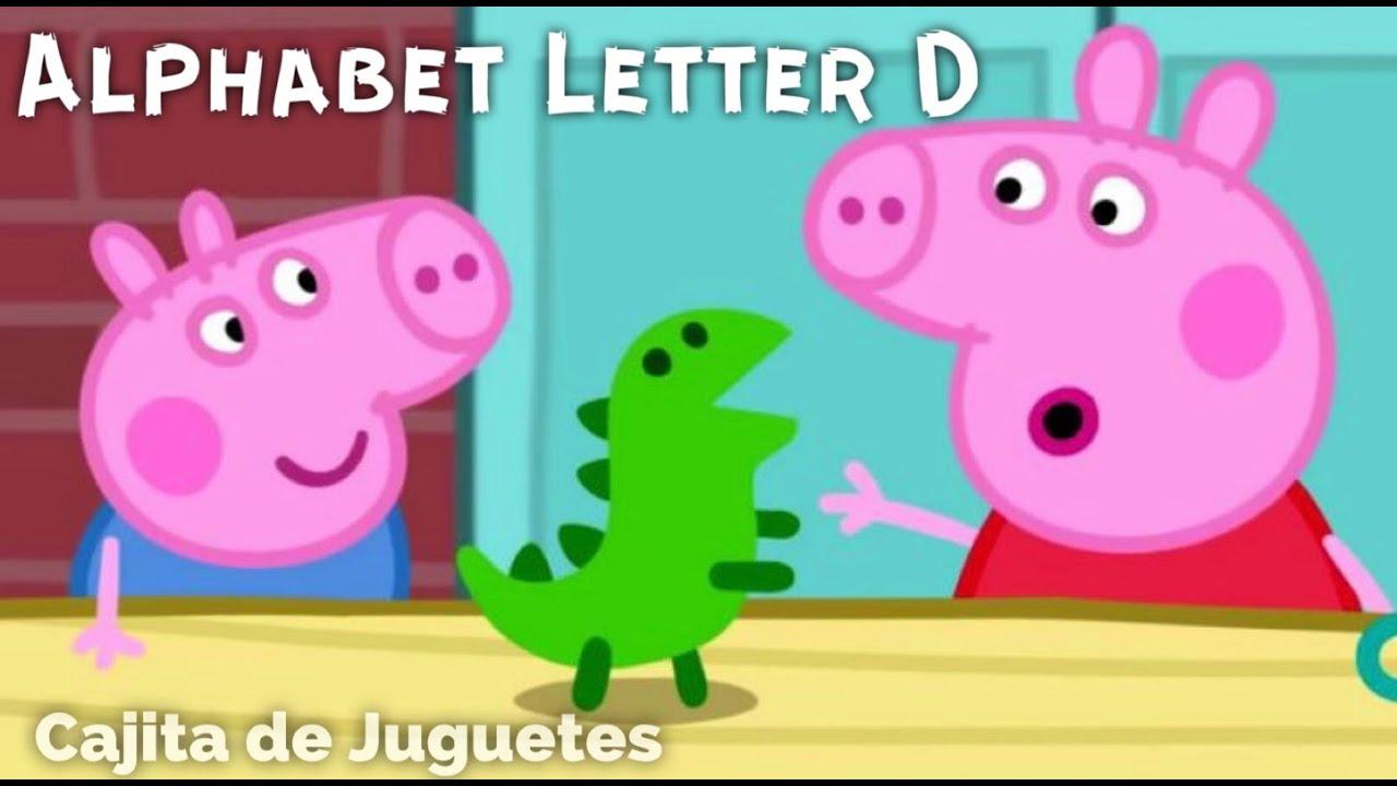 Peppa Pig The Alphabet Box-Letter D 💙 English / La Caja Del Alfabeto-Letra D 💙 Traducido Al Español