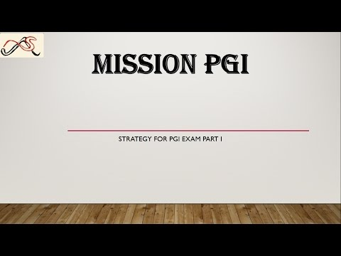 MISSION PGI Strategy Part I