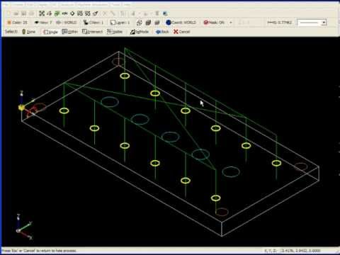 SURFCAM Tutorial - 2-Axis: Advanced Drilling - Templates and Masking